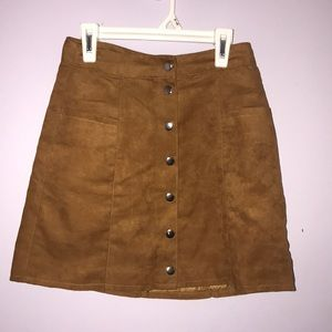 Teen brown button down skirt, size 2